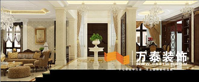 济南奥龙观邸欧式风格装修效果图|济南奥龙观邸别墅
