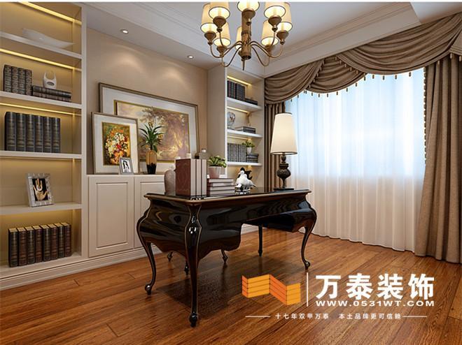 济南海尔绿城锦兰园简约欧式风格装修效果图|济南