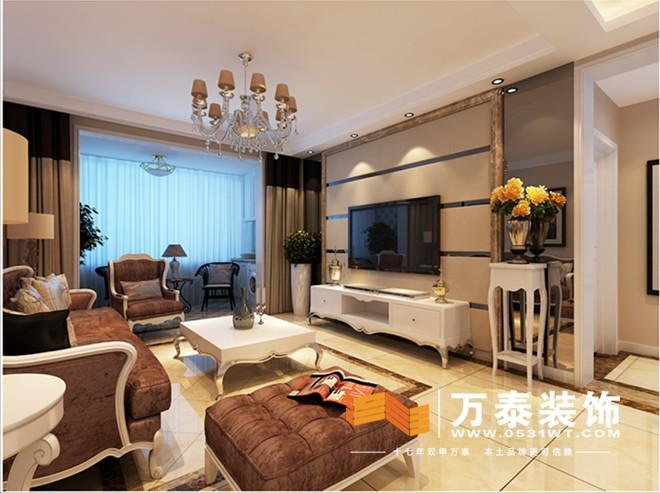 阳光100五期-沙发背景墙的装修效果图
