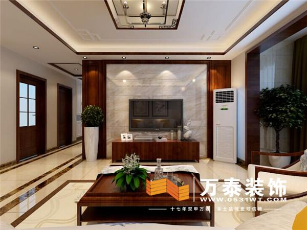 中海国际社区120平装修效果图丨中海国际社区现代中式装修效果图高清图片