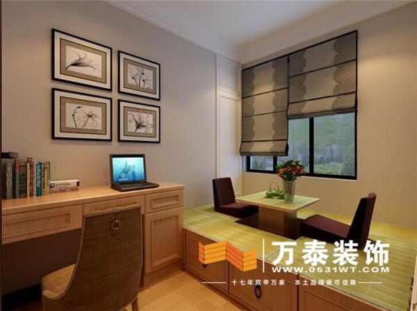 区120平装修效果图丨中海国际社区现代中式装修效果图高清图片