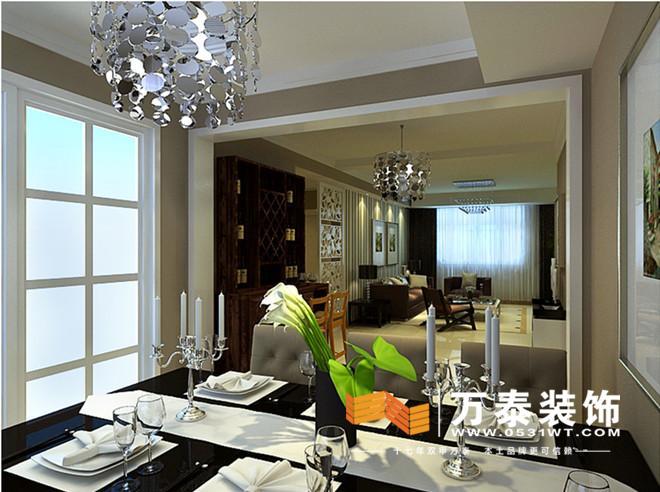 装修效果图: 客餐厅之间有一过厅
