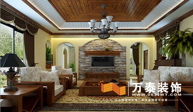 本案位于诺贝尔城,美式乡村风格,设计着力营造舒适温馨的美式家居环境,除去繁复的纹样线条及奢华的配饰,在简约舒适的沙发配饰及温情的木质作中,寻求一种舒适、精致又高雅的生活。沙发背景墙和影视墙延用轴线式对称的设计,更显端庄;入户镂空花格的玄关造型能更好的弥补楼梯间的光线不足,更有效的延展空间。