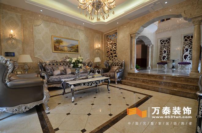 齐鲁涧桥简欧风格装修实景图 济南涧桥别墅简欧风格装修实景图