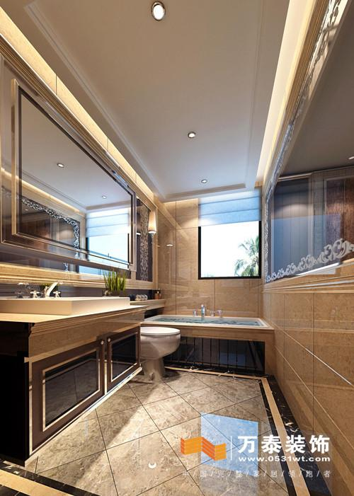 宽敞的客厅,拼花木地板给人别样的视觉体验,而沙发的背景墙设计成休闲