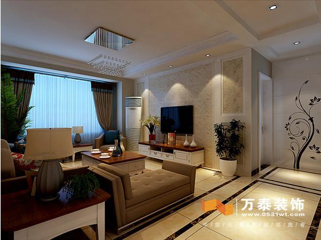 中海国际a3现代美式风格装修效果图|济南中海国际