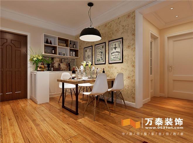 济南经纬家园95平简约风格装修案例装修效果图_设计师