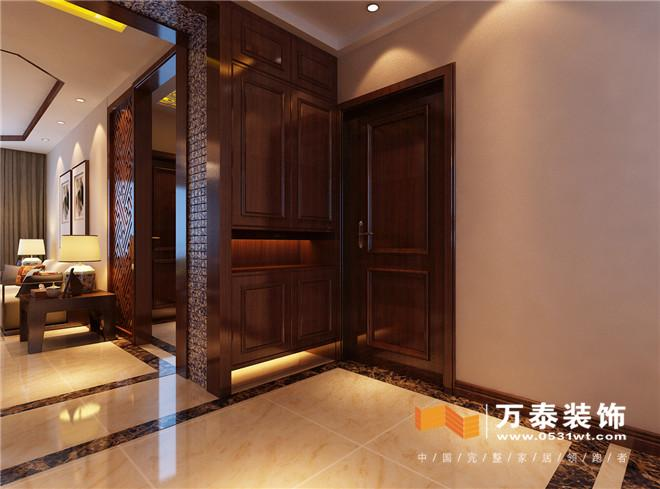 济南阳光100小区160平新中式风格装修效果图_设计师