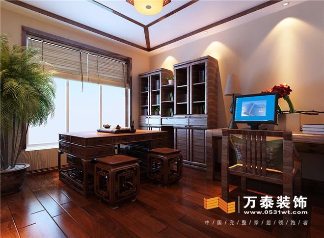 济南阳光100小区160平新中式风格装修效果图_设计师图片