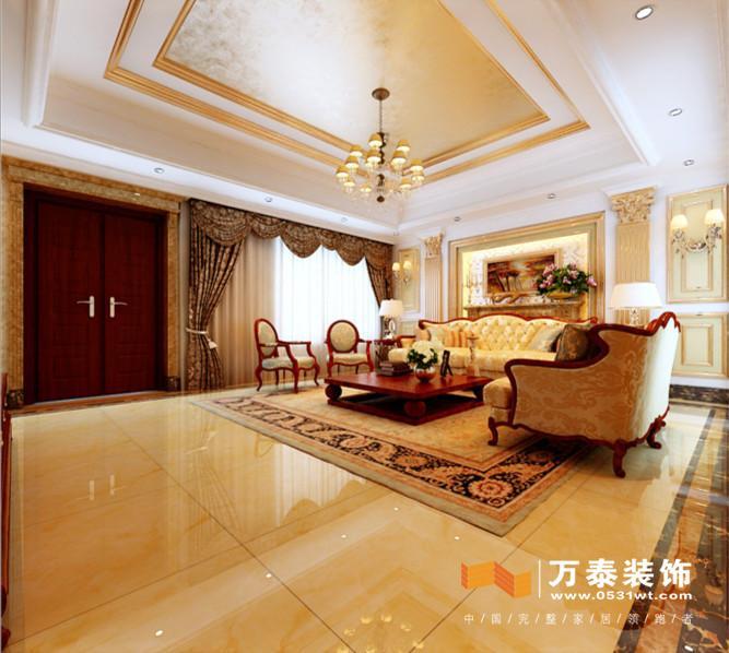 济南中海铂宫480平方欧式古典风格别墅装修案例