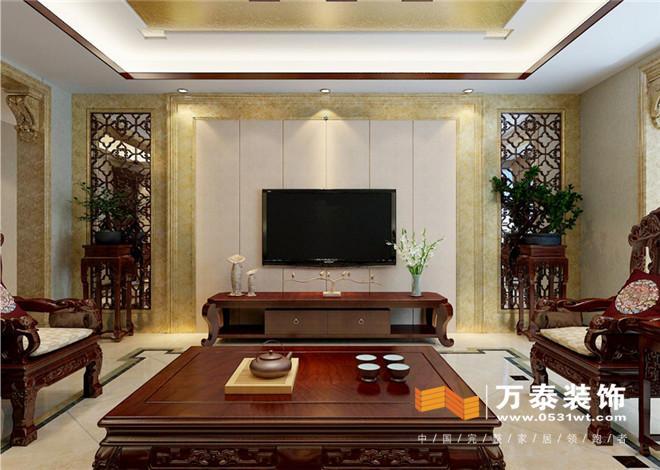 济南王府庄园200平新中式风格装修效果图与实景图