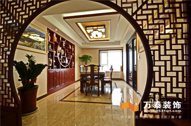 济南王府庄园200平新中式风格装修效果图与实景图图片
