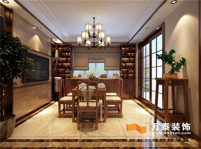 济南黄金99御园简约中式风格装修效果图 济南黄金99平