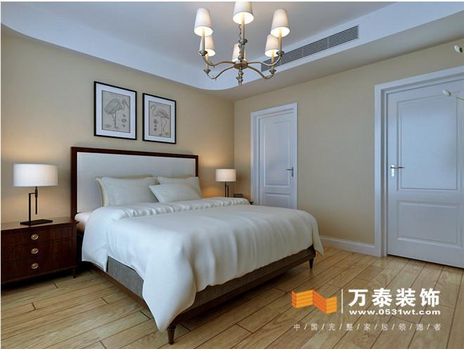 济南锦兰园205平美式风格装修效果图|济南锦兰园205平