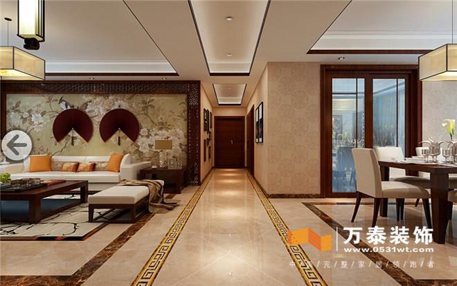 济南东城逸家新中式风格装修案例|济南东城逸家140平新中式风格装修效
