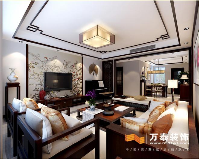 济南黄金御园140平新中式风格装修效果图 济南黄金图