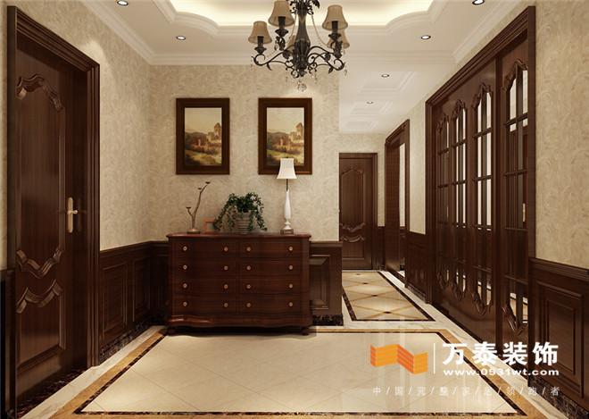 空间融为一体,仅用装饰柜作为空间分割,让空间更通透,墙面上的护墙板图片