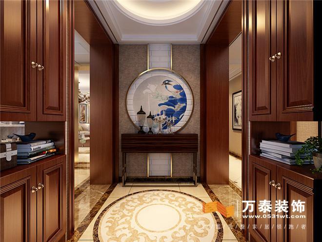 济南锦兰园新中式风格装修效果图|济南锦兰园201平图