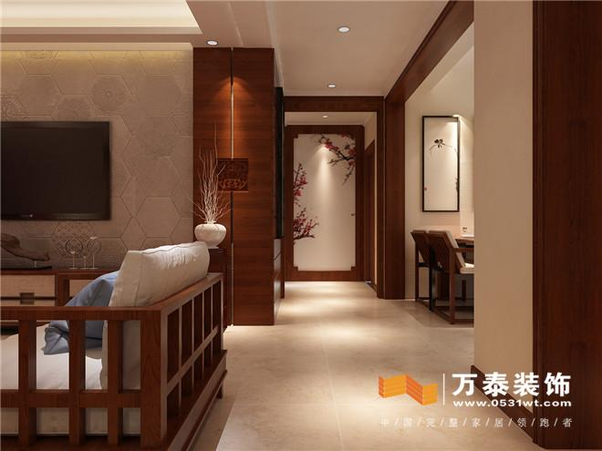 济南济水上苑新中式风格家庭装修设计 济南济水上苑140平新中式风格