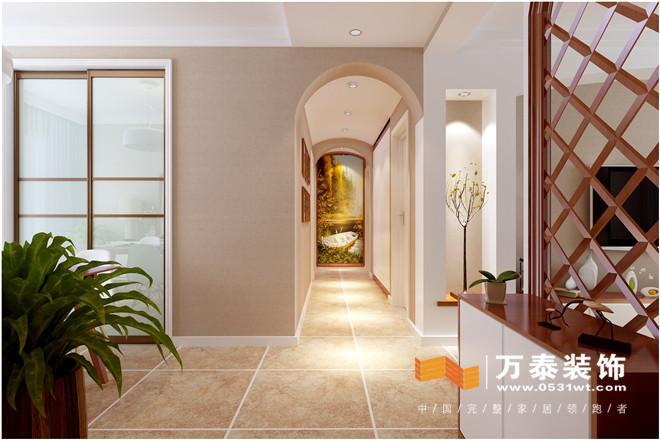 济南建大花园北欧现代风格家庭装修设计案例|济南建大