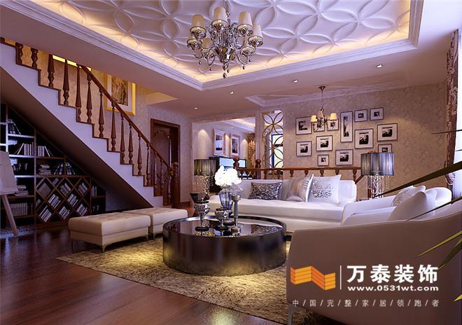 南京锦绣花园联排别墅室内装修设计案例|南京锦绣花园