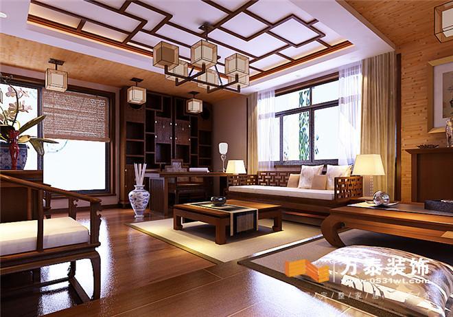 欧式红木客厅装修