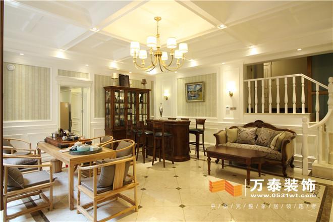 济南中海铂宫欧式古典风格装修实景图|济南中海铂宫