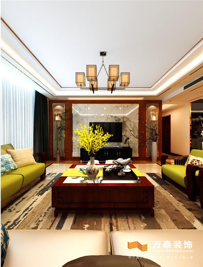 济南黄金御园190平港式风格装修设计案例|济南黄金御园港式风格室内图片