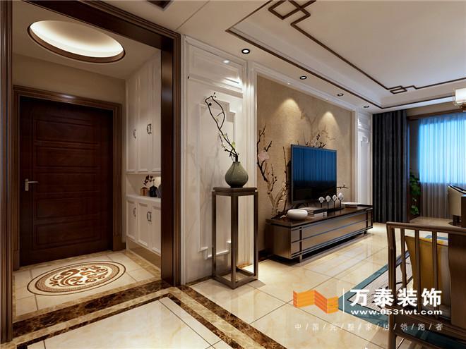 济南东城逸家140平新中式风格装修设计案例_设计师