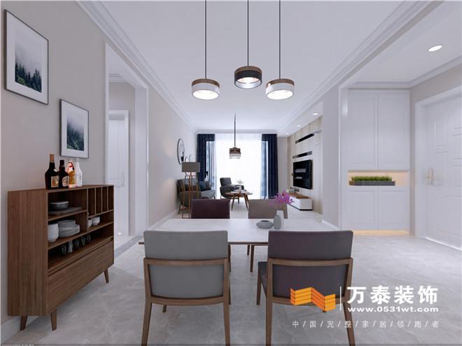 济南领秀公馆120平北欧风格装修设计效果图_设计师