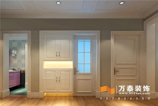 阳台:   次卧:   主卧: 床头背景墙运用了壁纸和木质墙板结合,品图片