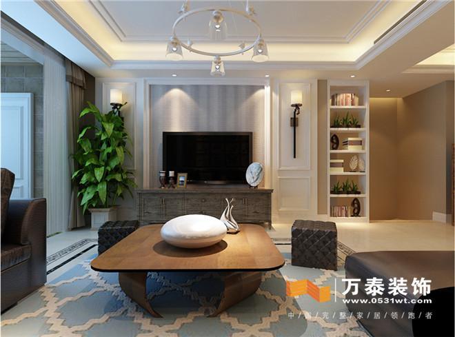 设计说明:本案是茗筑一品平层案例,四室两厅两卫一厨,三口之家,业主比较喜欢简美风格的家具,比较推崇简洁的感觉,木色质感也是极其喜欢的,十分大气。整体风格非常简约,区域功能性划分的相对明确, 客厅:  影视墙造型简洁用线条增加装饰性立面造型也显得很丰富,影视墙还是能处理对称的造型。