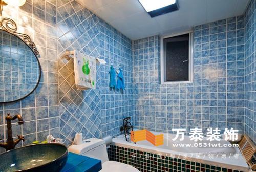 装修知识:卫生间瓷砖绚丽色彩搭配