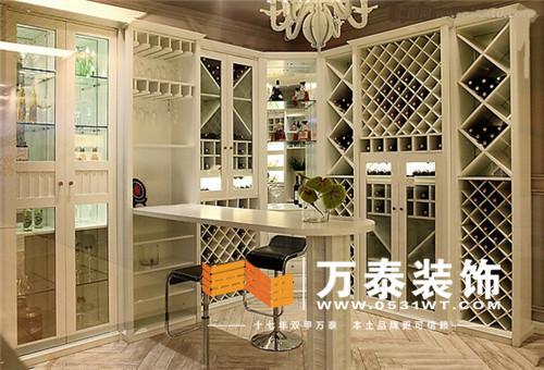 中式复古饭店酒柜吧台装修效果图